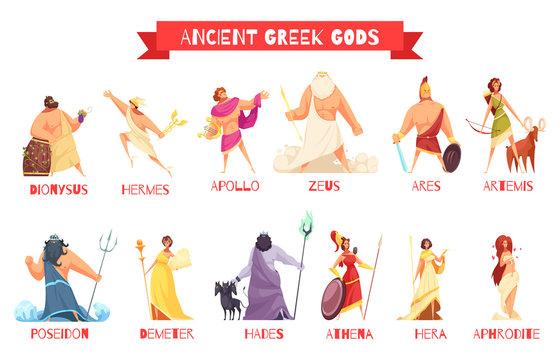 Ancient Greek Gods Set
