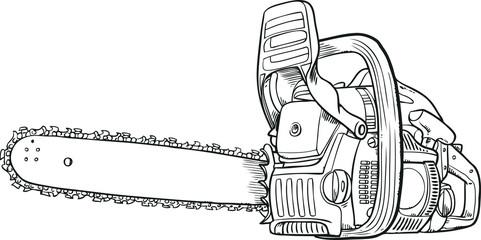 Vector chainsaw - petrol chain saw