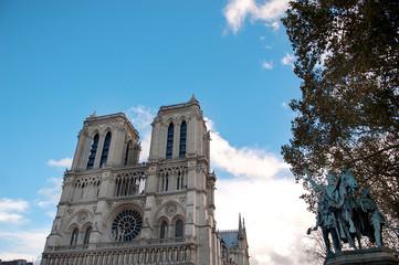 Beautiful view of Notre Dame de Paris