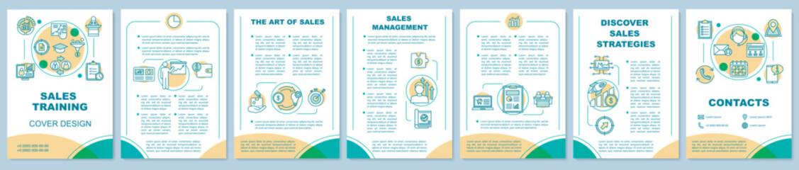 Sales skills courses brochure template