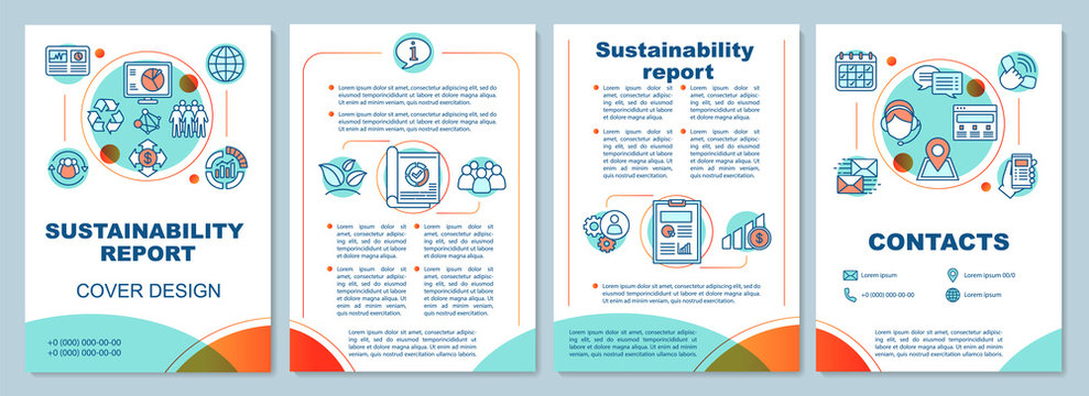 Sustainability report brochure template layout