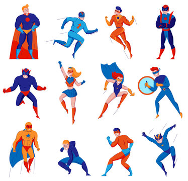 Superhero Character Set