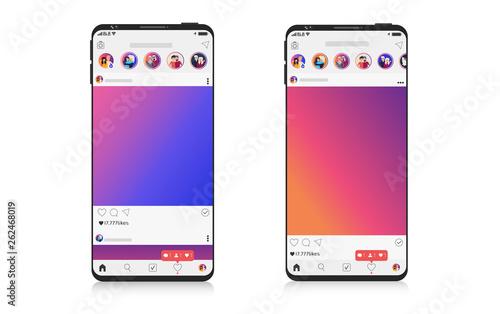 New Mock up set of social network on Smartphone, mobile