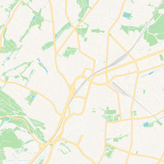 Bielefeld, Germany printable map