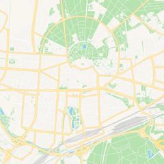 Karlsruhe, Germany printable map