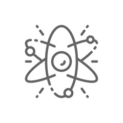 Atom, molecule, science line icon. Isolated on white background