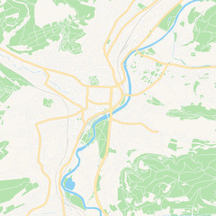 Jena, Germany printable map