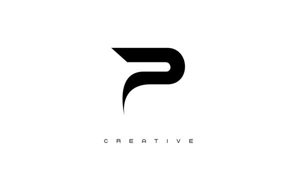 Gold Letter P Logo. P Letter Design Vector