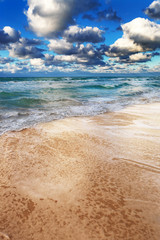 a ocean and sky