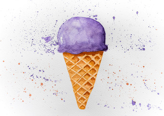 Picture of drawn ice cream
