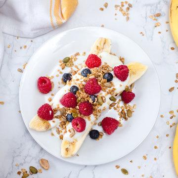 Healthy Breakfast Banana Split