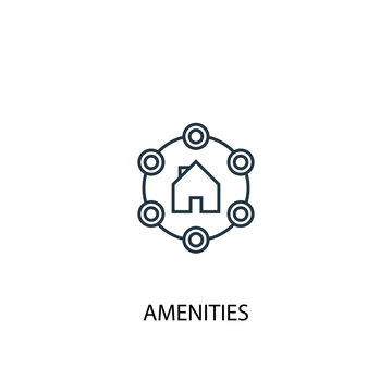 Amenities concept line icon. Simple element illustration. Amenities concept outline symbol design. Can be used for web and mobile UI/UX