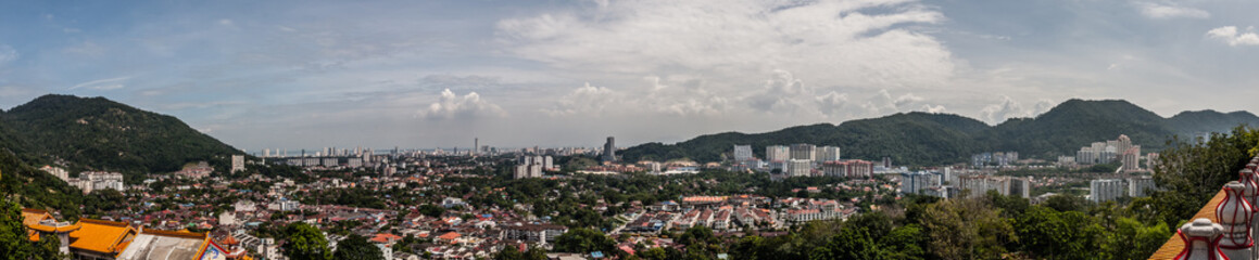 Fototapeta A panoramic view of George Town and suburbs