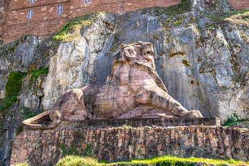 lion statue of the fortress of Belfort France