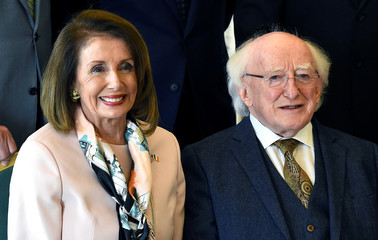 U.S. House Speaker Pelosi visits Dublin