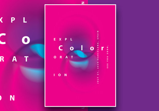 Poster Layout with Blurred Gradient Circles