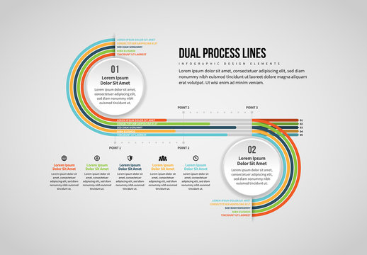 Dual Process Lines Infographic