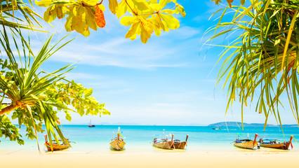 Beautiful tropical beach in Thailand, Krabi province