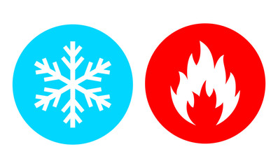 Hot and cold vector icon Wall mural