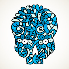 Hand drawn sugar skull