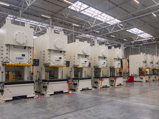 Machines for the production of metal automotive parts Wall mural