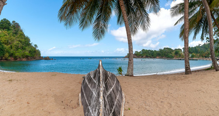 Republic of Trinidad and Tobago - Tropical island of Tobago - Parlatuvier bay - Tropical beach in the Caribbean Sea