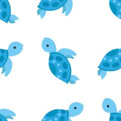 sea pattern turtle cartoon