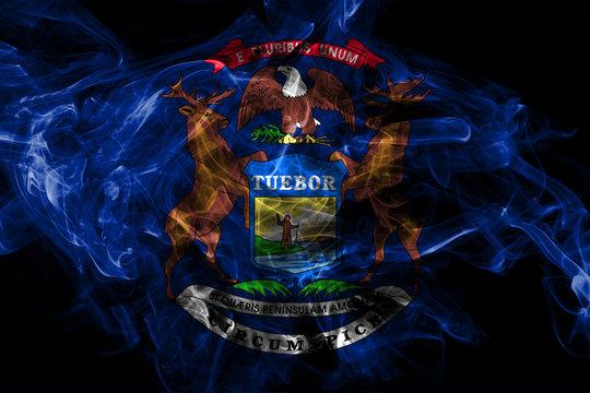 Michigan state smoke flag, United States Of America