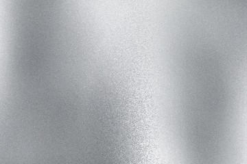 Shiny silver metal sheet, abstract texture background