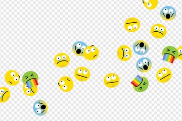 Floating emojis