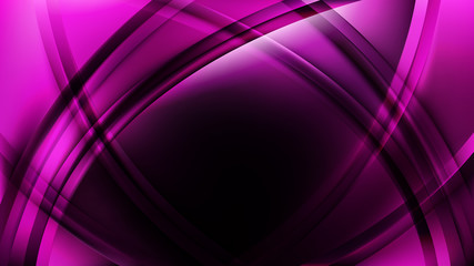 Obraz Abstract Purple and Black Waves Curved Lines Background Vector Art - fototapety do salonu
