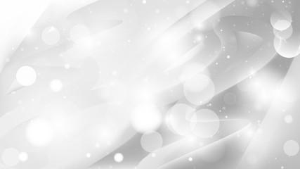 Abstract Light Grey Defocused Lights Background Vector