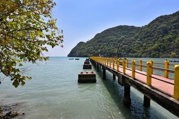 Wall Mural - Long pier at Pulau Dayang Bunting, Langkawi Island Malaysia