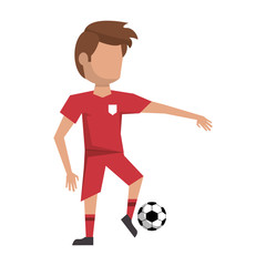 Soccer player with ball avatar