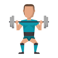 Man lifting weights avatar