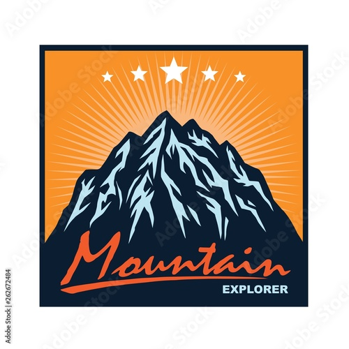 Logo For Mountain Adventure Camping Climbing Expedition Vintage