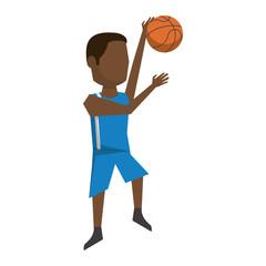 Basketball player with ball avatar