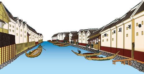 浮世絵 水路 その3