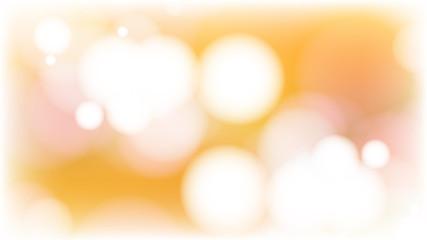 Orange and White Bokeh Defocused Lights Background Image