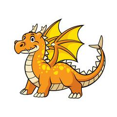 cartoon of happy smiling dragon