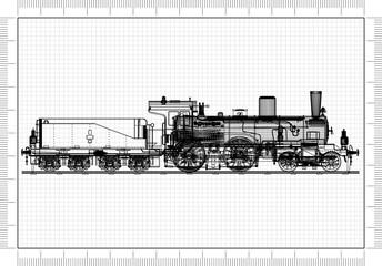 Old Train Architect Blueprint
