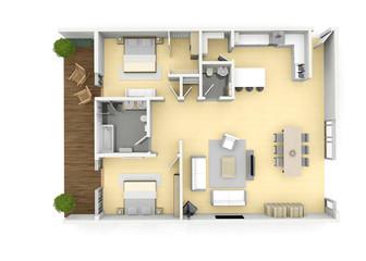 3d floorplan from above birds eye view