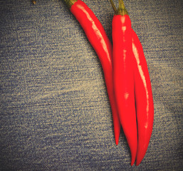 chili pepper on jeans