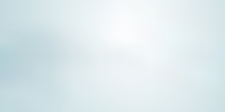 Abstract light blue blurred background horizontal panoramic web banner.