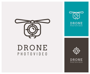 drone, logo, symbole, appareil photo, vue aérienne, video