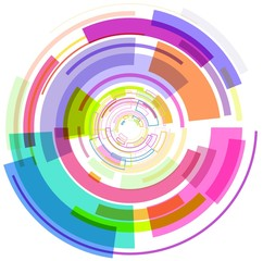 Abstract multicolour circle