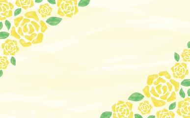 水彩 バラ 背景