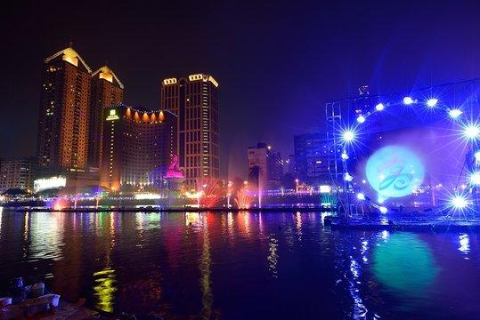 Kaoshiung city at night,Taiwan