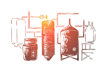 Brewing equipment, lager making process automation, brewery craft, distillery, booze factory, boiling and cooling