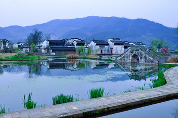 Tranquil countryside in Anhui, China